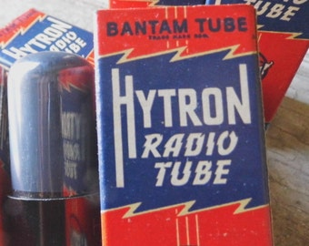 Radio Tube, NOS, Advertising, 1940s, New in Box, Mad Men, Retro, Red, Blue, Rescue, Recycle, Reuse, Altered Art, Props, All Vintage Man