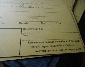 Vintage Harvard College Library Paper, Ephemera from All Vintage Man - Collage, Mixed Media