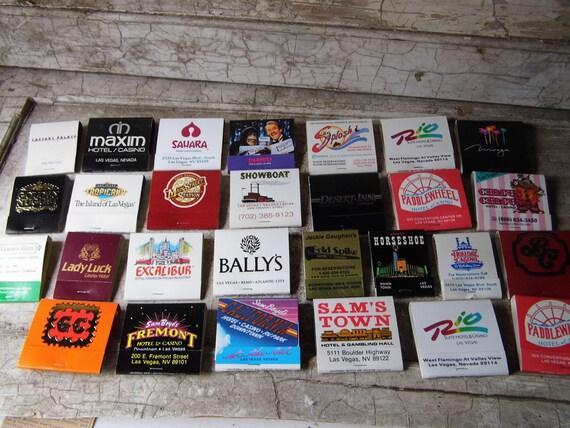 Vintage Las Vegas Casino Matchbook Collection, Unused