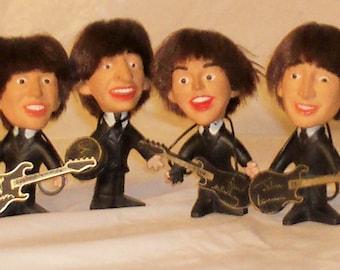 Beatles Dolls-All Four Beatles-Remco 1964-Very Good Condition
