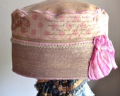 RESERVED FOR ANITA pink spring hat, summer hats, romantic Ooh La La