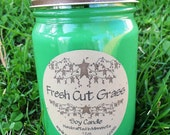Fresh Cut Grass Soy Country Candle by Moments In Time Soy & More