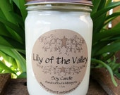 Lily of The Valley 12 oz Soy Country Candle by Moment's In Time Soy & More