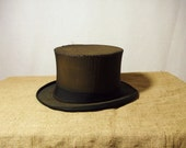 RESERVED Antique 1800s Danish Collapsible Top Hat
