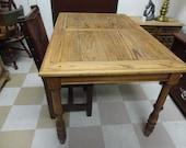 Oak Table circa 1980,shabby chic 75.00