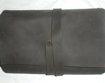 Black Refillable Leather Journal, Handmade Leather Diary, Journal Covers,Notebook, Pocket book
