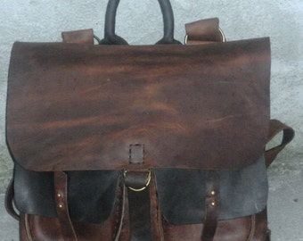 Luxury Leather Messenger Bag, Handmade Men's Briefcase, Leather Accessories