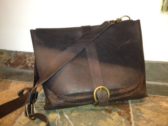 leather bag / leather purse / handmade and stitched bag