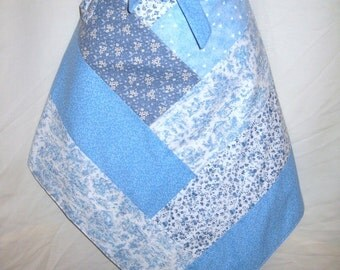 Blue/white Half Apron