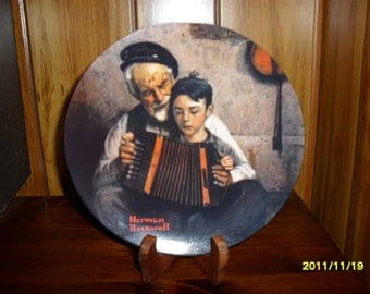 """Norman Rockwell's """"The Music Maker"""" Collector Plate"""