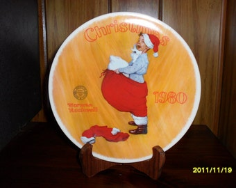 1980 Norman Rockwell Christmas Plate