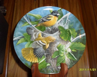 """1985 """"The Baltimore Oriole"""" Collector Plate"""
