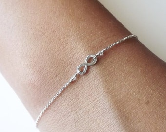 Hammered Sterling Infinity Bracelet - Infinity Bracelet - Everyday Bracelet - Bridesmaid Bracelet
