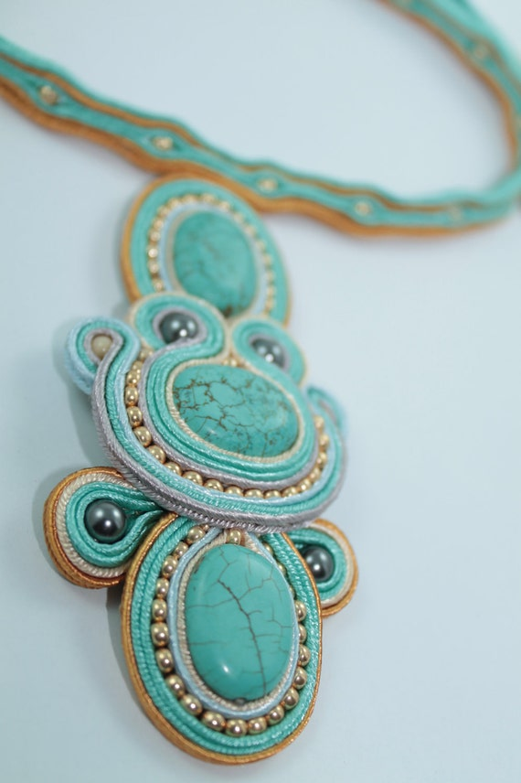Pendant with Turquoise .