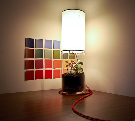 RESERVED for Desireedearheart / Terrarium/Display Column Table Lamp
