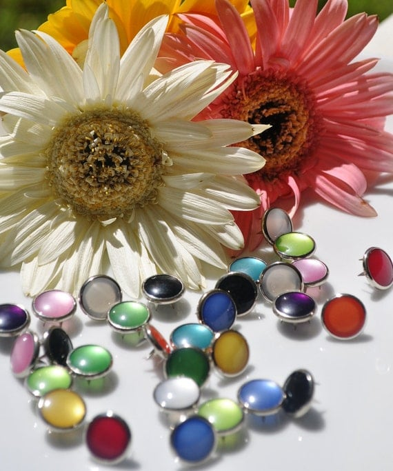 100 Color Variety Pearl Prong Snaps