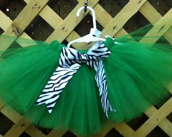Green and Zebra St Patricks Day Tutu Skirt