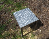 Aluminum and steel table
