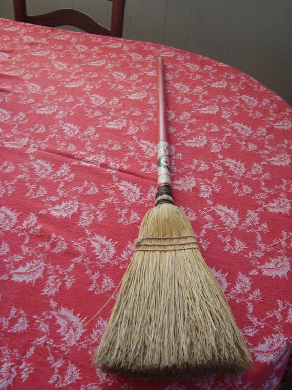 child sized broom made by the blind