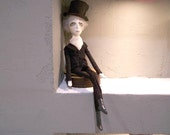 Art doll  -  Ebenezer Scrooge ...Charles Dickens - RESERVED FOR KELLY