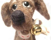 Soft sculpture  dog - Needle felted wool  Animal  sculpture  - Ready to ship