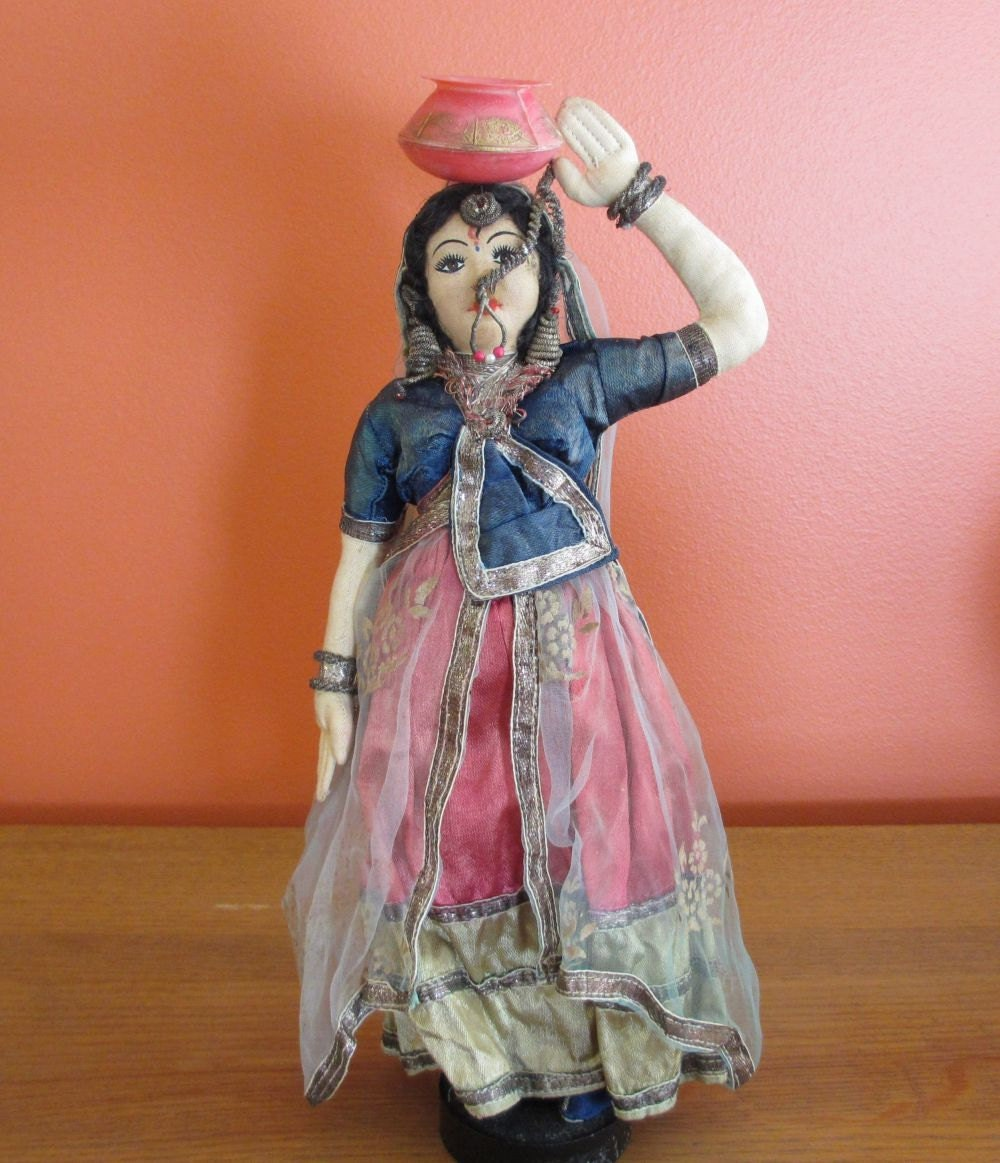 Vintage Indian Cloth Doll Handmade In India