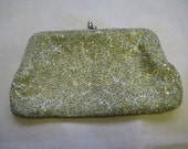 1940s Gold Beaded Clutch/Wallet
