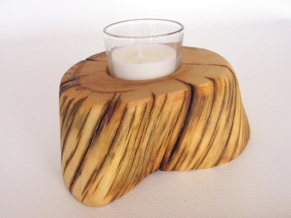 Bristlecone Pine Wood Single Candle Holder