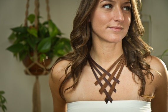 Woven Leather Necklace