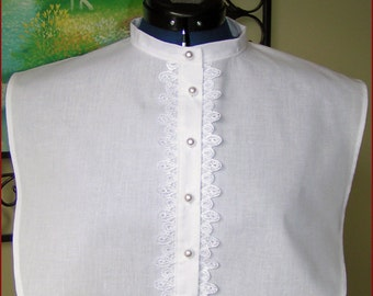 Civil War/VIictorian 100% cotton muslin Dickey Collar
