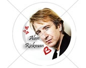 Alan Rickman Love Pin/Button - 1.25 inch