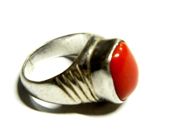 AAA Quality Precious Natural Italian Red Coral with Sterling Silver.Red jewelwry .