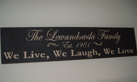 Custom Family Sign, We Live, We Laugh, We Love