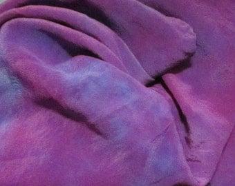 "Purple Silk Tarot Cloth - Altar Cloth - Hand Dyed 30""x30""...100% Silk"