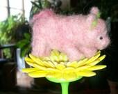 Piggy for your pocket Needle Felt