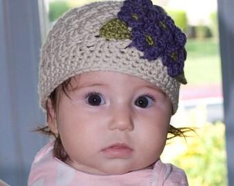 Baby Hydrangea Flower Beanie