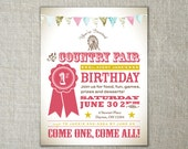 Country fair party | Carnival invitation | Vintage fair party | Carnival birthday