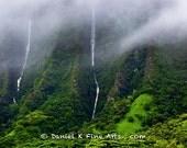 Rainy day waterfalls on the Ko'olau's
