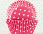 Pink Dot Cupcake Liner