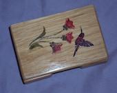 Humming Bird Card Holder Box