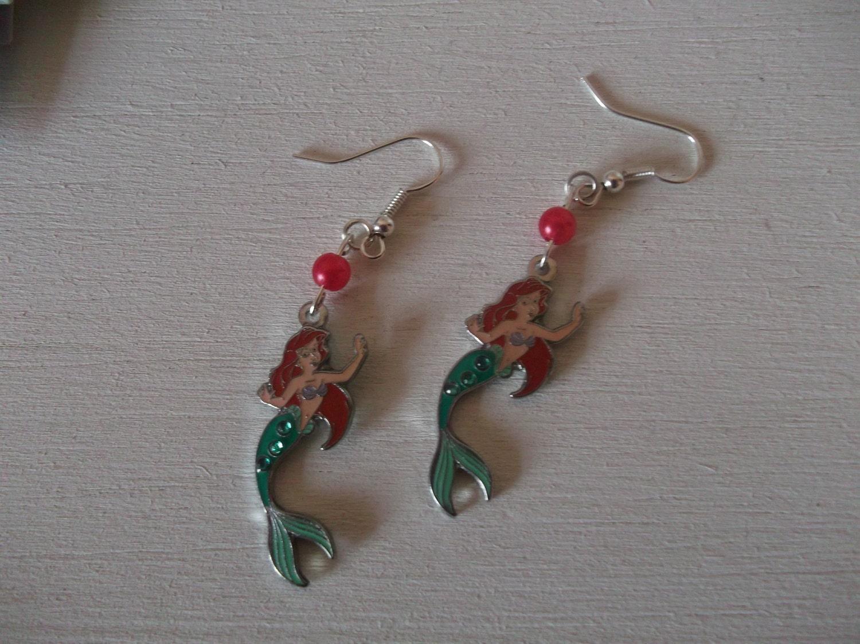 ariel the mermaid disney earrings by bellbookandscandal