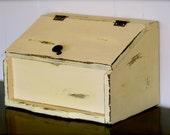 Distressed Yellow Breadbox