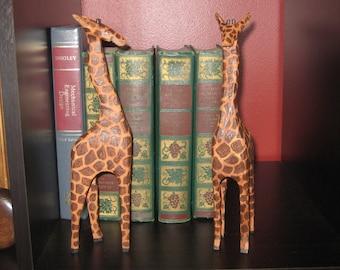 Giraffe - Tall Standing wood cut