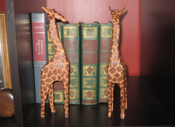Giraffe - Tall Standing wood cut