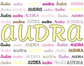Personalized Name Frame, color theme: yellow with pinks