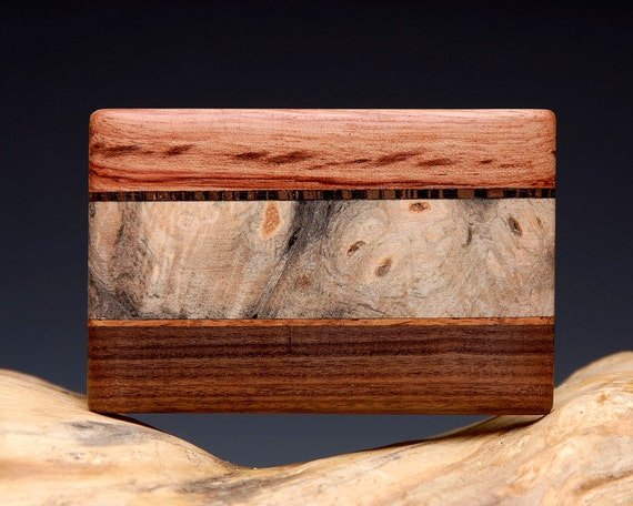 Hand Made Exotic Wood Inlaid Belt Buckle