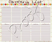 Dots Grocery List