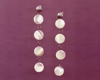 Mother of Pearl and Sterling Earrings