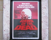 Dawn Of The Dead Movie Print With Custom Metal Frame