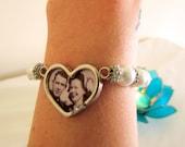Custom Photo Locket Bracelet